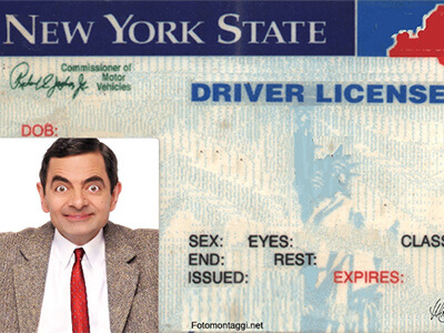new jersey drivers license template psd
