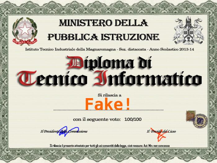 Fake High School Certificates